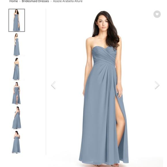 c83def02 Azazie Dresses | Arabella Allure Dusty Blue Size 2 | Poshmark